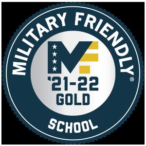 Military Friendly School 2021-2022 Gold badge